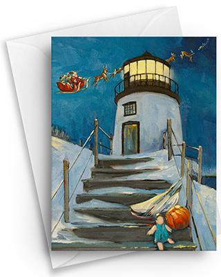 Owls Head Light Christmas Card
