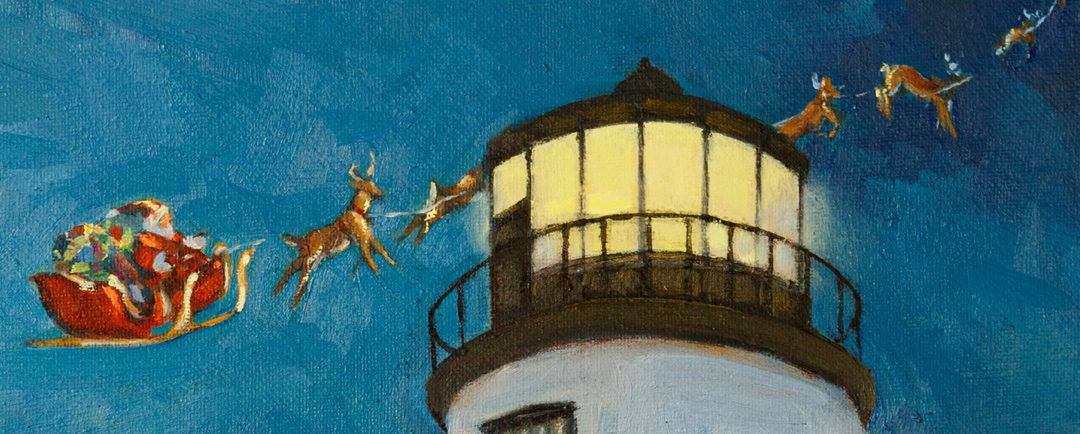 Christmas Cards Featuring Owls Head Lighthouse Artwork to Benefit ALF