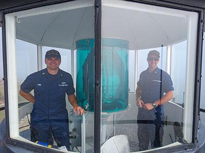 USCG lighthouse technicians