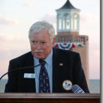 Tim Harrison, president of ALF, served as the Master of Ceremonies for the relighting of Avery Point