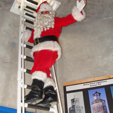 Santa Claus at Avery Point Light