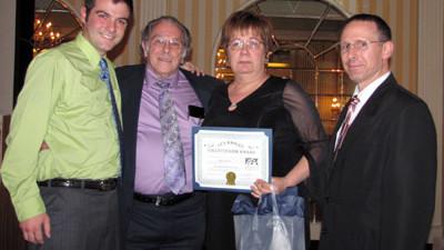 Kevin Sullivan's volunteer award