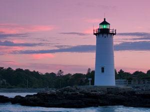 Portsmouth Harbor Light at Sunset